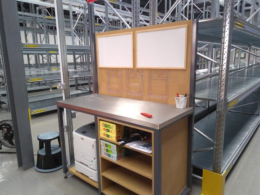Warehouse printer workstation