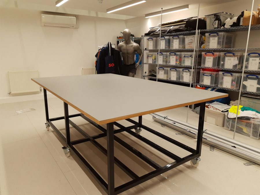 Cutting table for fashion business
