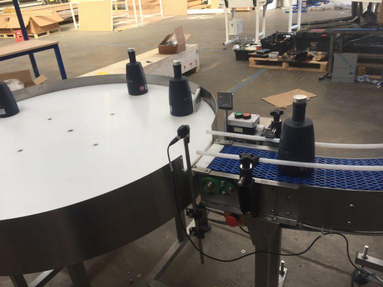 modular belt conveyor for bottles