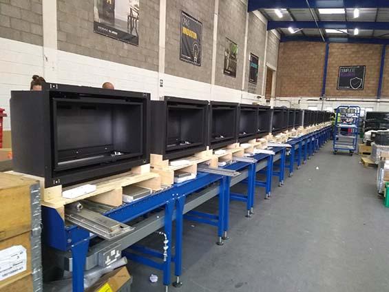 roller conveyor assembly build line