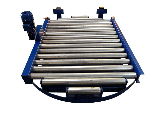 gravity roller conveyor system turn