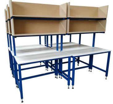 melamine top packing benches