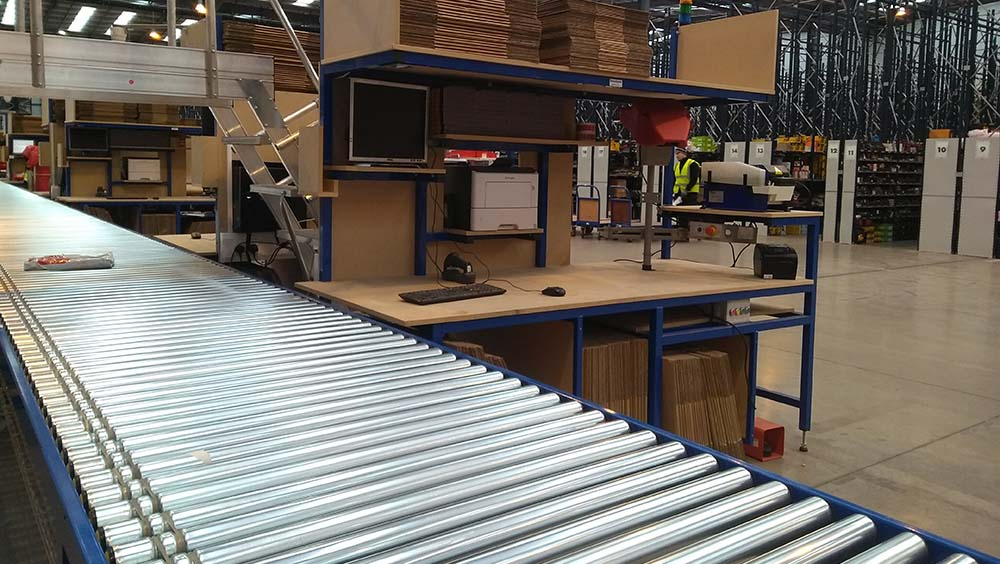 roller conveyor workstation
