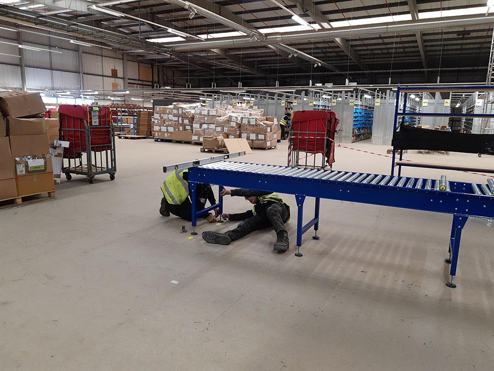 onsite conveyor installation lineshaft