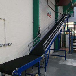 Incline mezzanine belt conveyor