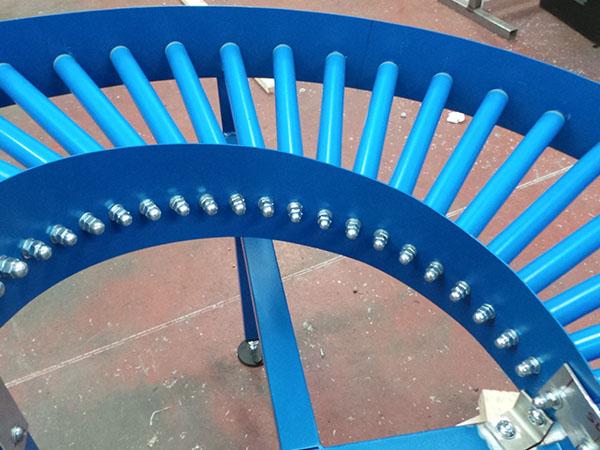 gravity roller conveyor bend