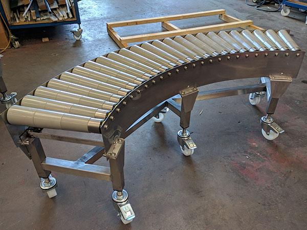 gravity conveyor bend