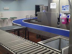 modular conveyor bend