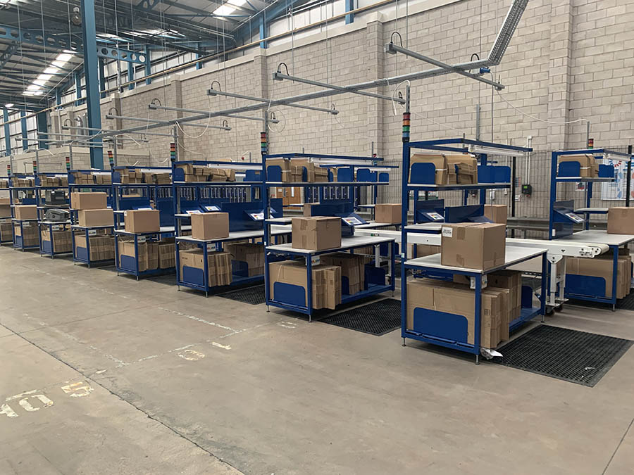 packing stations for warehouse