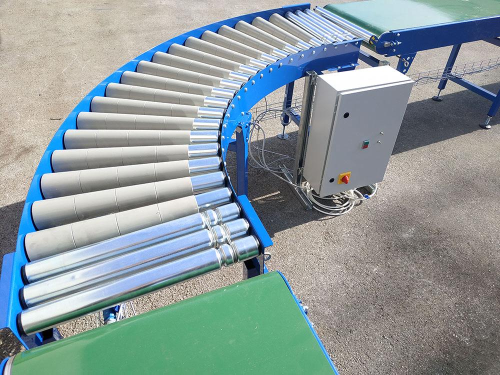 roller conveyor bends