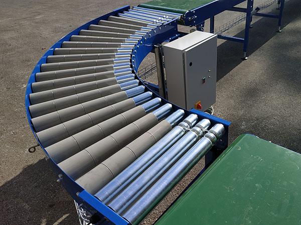 roller conveyor bend