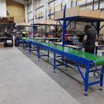 Finish extended belt conveyor