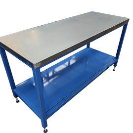 steel topped workbench