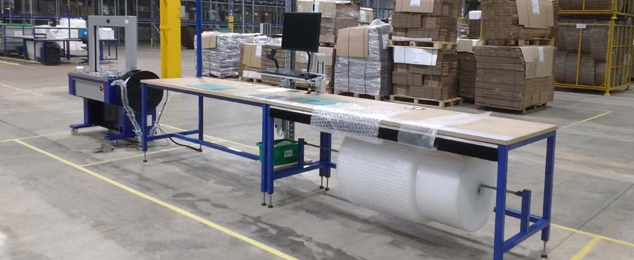warehouse packing bench