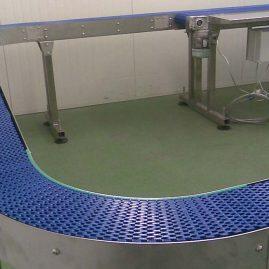 cheese handling modular belt conveyor