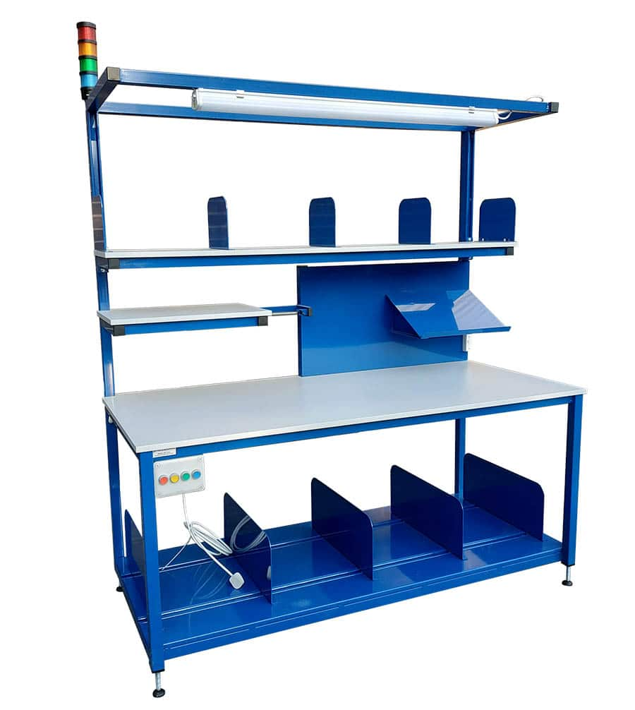 Packing bench with light & andon signal tower