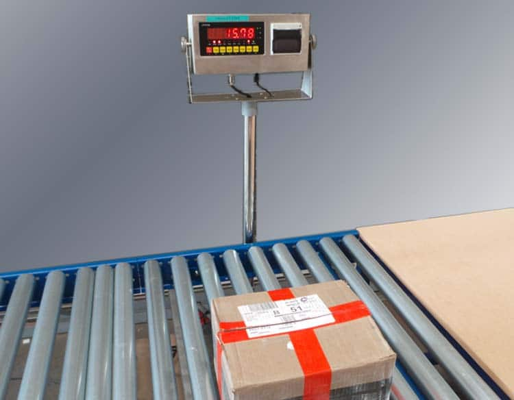 integrated weigh scales button