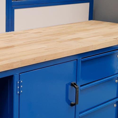 wooden heavy duty workbench