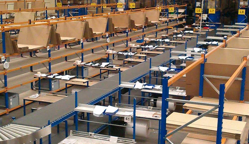 warehouse packing station equipment