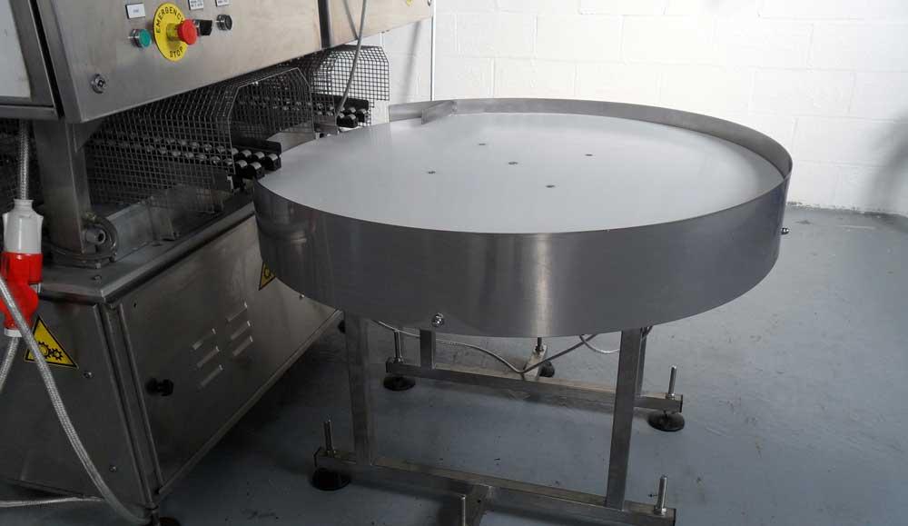 Rotary with machine feed