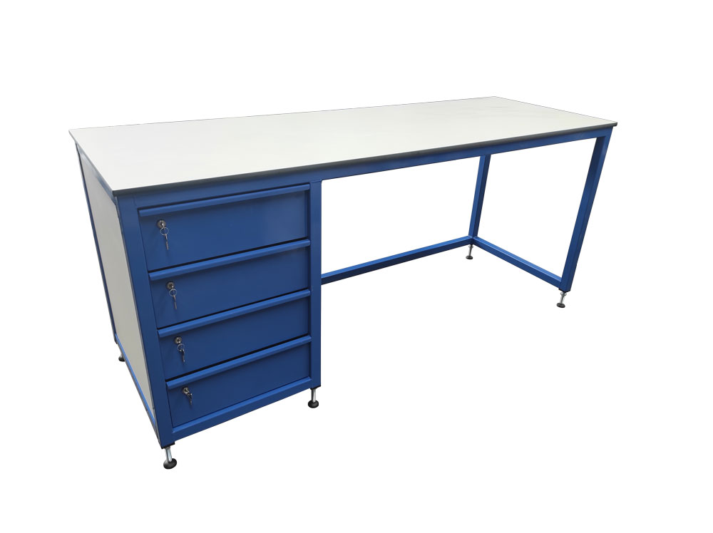 Workbench with drawers & trespa top