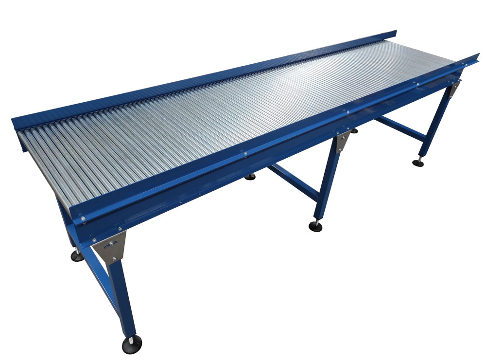 Gravity conveyor with sides