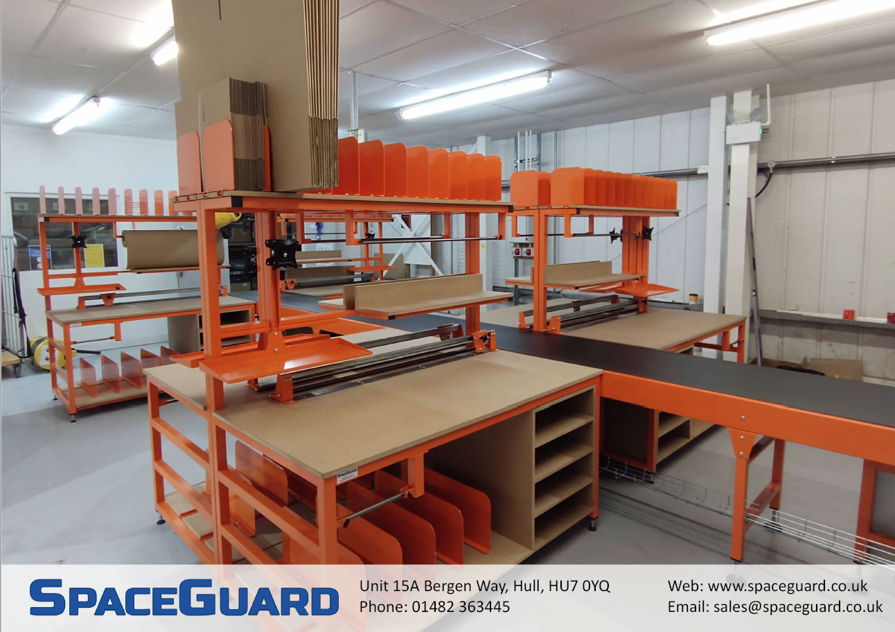 Packing conveyor system & workbenches
