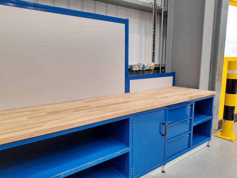 Beech Top Workbench Cabinet