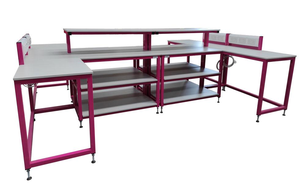 Modular workbench alternative layout