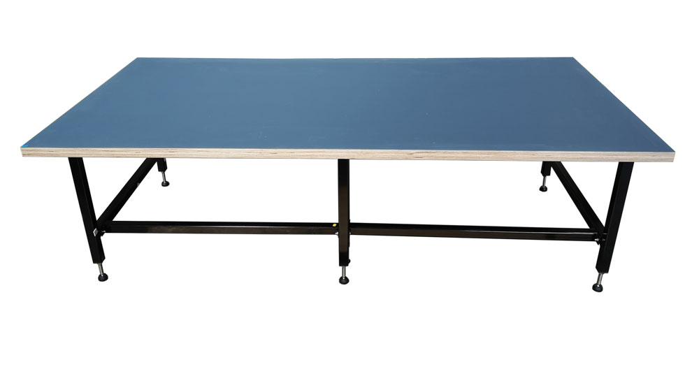 Studio desk smokey blue lino top (#16112)