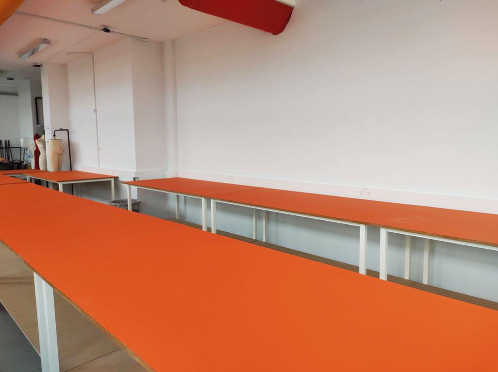 Orange top cutting tables (#18105)