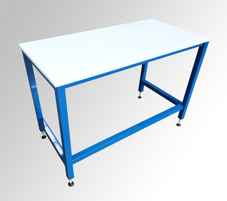 Polyethylene top packing table (#16797)