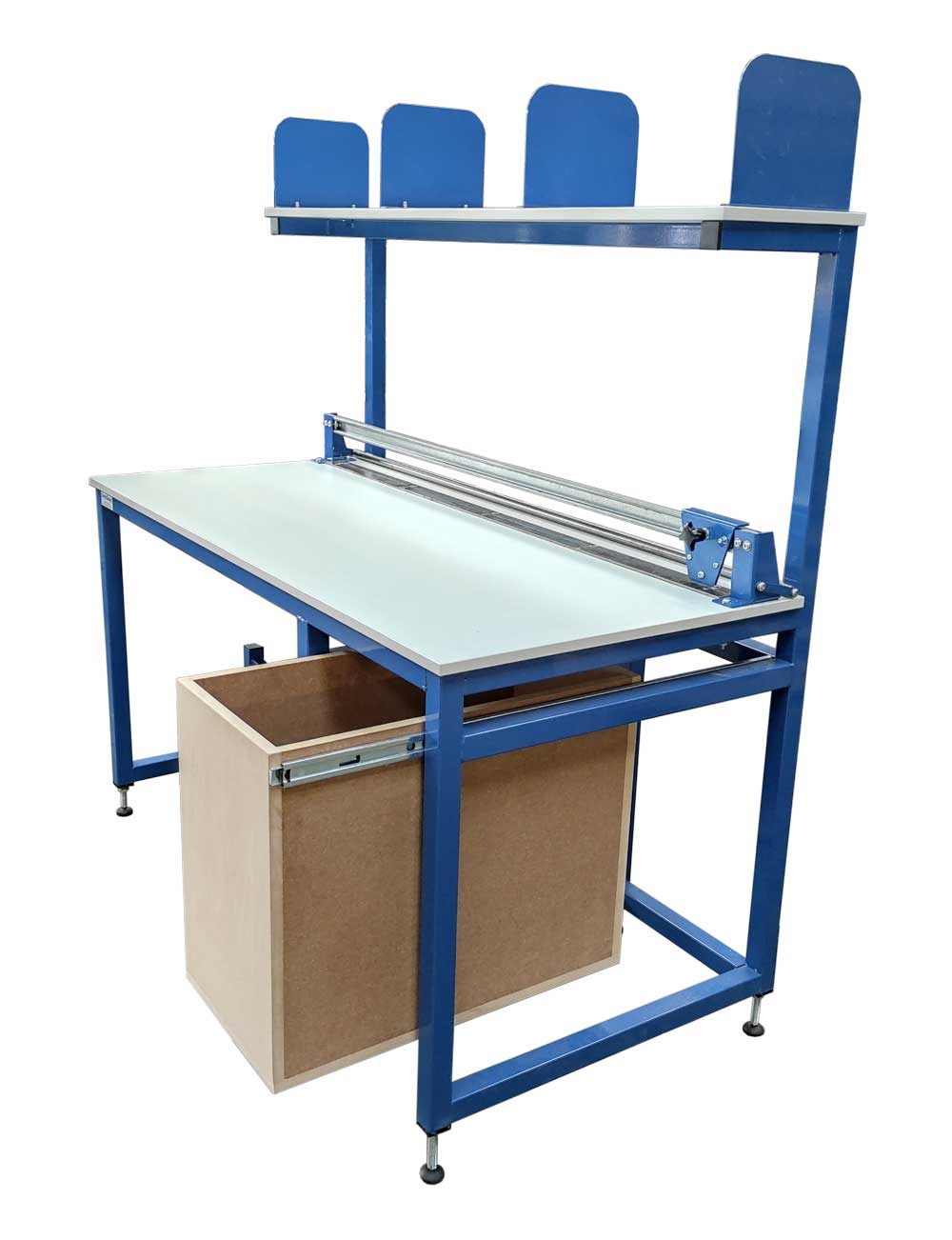 Packing bench with cutter. roll holder, drawer (#18183)